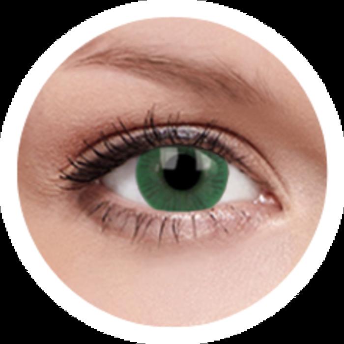 maxvue vision ColourVue Basic - Green (2 čočky tříměsíční) - nedioptrické