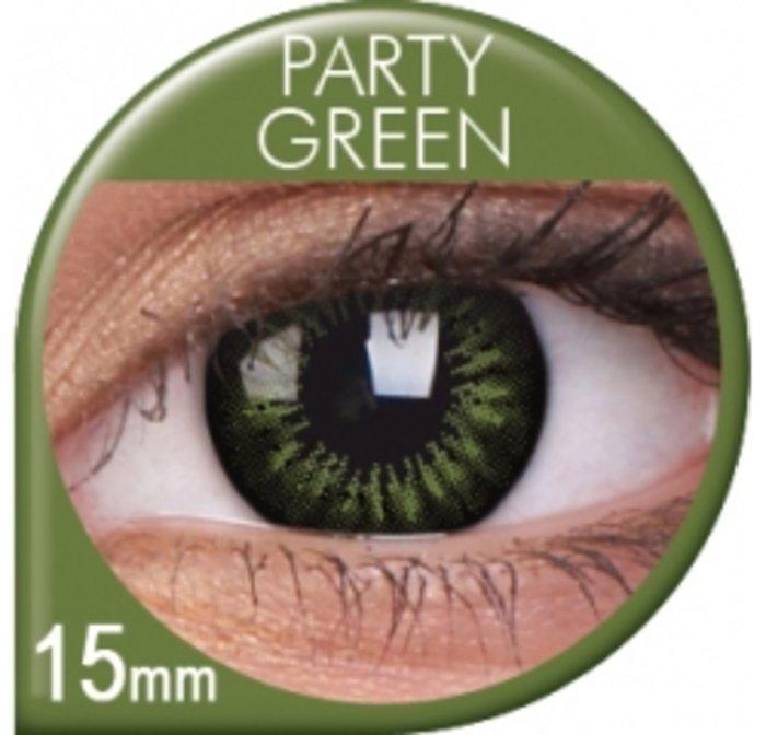 maxvue vision ColourVue Big Eyes - Party Green (2 čočky tříměsíční) - nedioptrické
