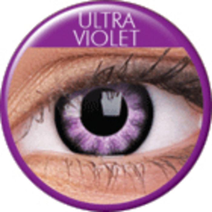 maxvue vision ColourVue Big Eyes - Ultra Violet (2 čočky tříměsíční) - dioptrické Dioptrie -8,00, Zakřivení 8.6