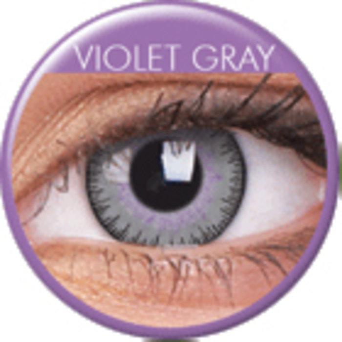 maxvue vision ColourVue Fusion - Violet Gray (2 čočky tříměsíční) - nedioptrické