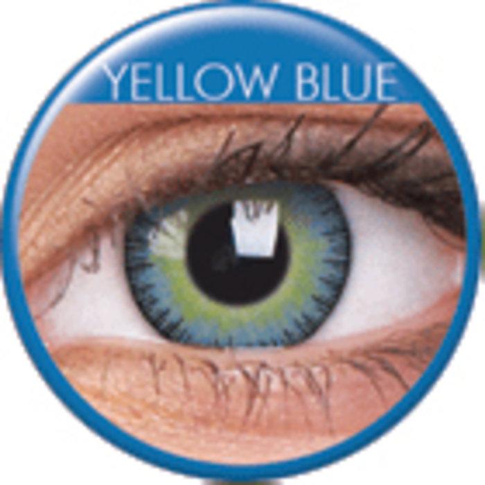 maxvue vision ColourVue Fusion - Yellow Blue (2 čočky tříměsíční) - nedioptrické