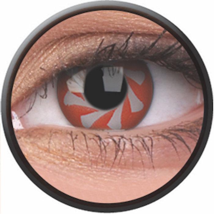 maxvue vision Phantasee Crazy čočky - Red Spin (2 ks roční) - nedioptrické