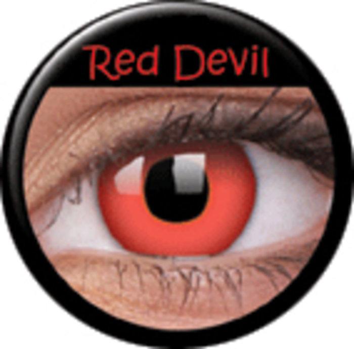 maxvue vision ColourVue Crazy čočky - Red Devil (2 ks roční) - nedioptrické
