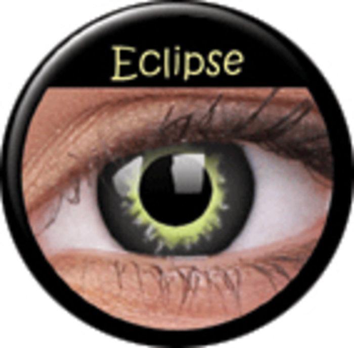 Maxvue Vision ColourVue CRAZY ČOČKY - Eclipse (2 ks tříměsíční) - dioptrické Dioptrie -6,00, Zakřivení 8.6