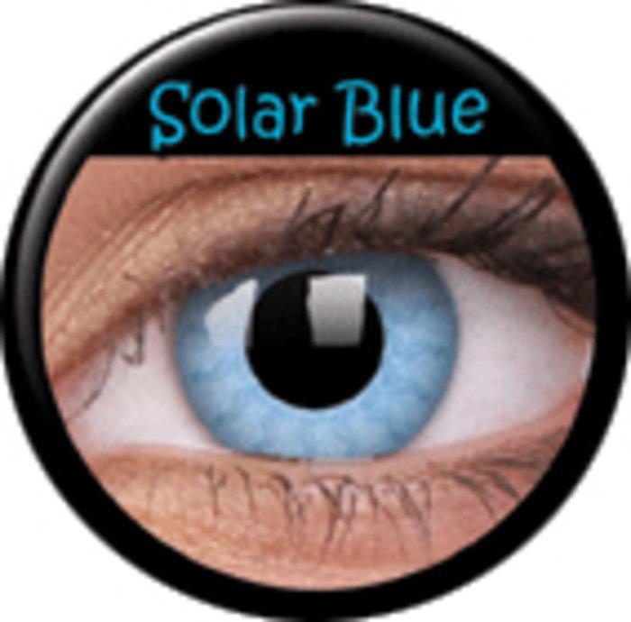 maxvue vision ColourVue CRAZY ČOČKY - Solar Blue (2 ks tříměsíční) - dioptrické Dioptrie -6,00, Zakřivení 8.6