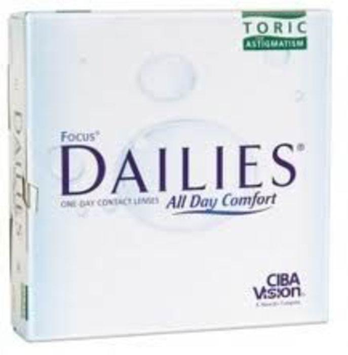 Alcon Dailies All Day Comfort Toric (90 čoček) Dioptrie -8,00, Cylindr -1,75, Osa 20°