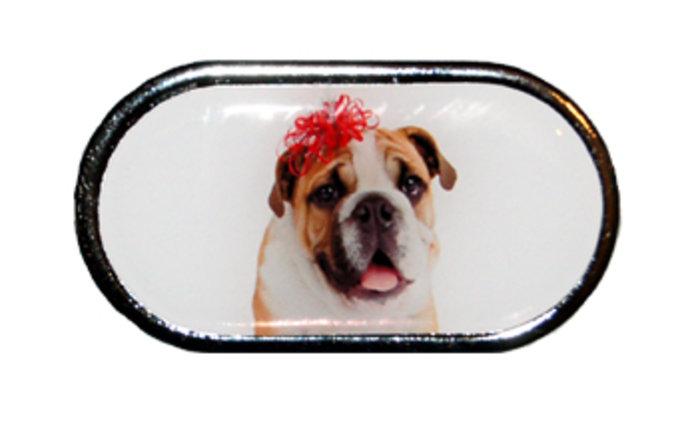 OPTIPAK LIMITED Pouzdro se zrcátkem Vánoční motiv - Pes s mašlí