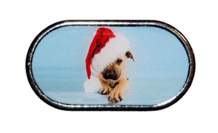 OPTIPAK LIMITED Pouzdro se zrcátkem Vánoční motiv - Štěně s čepicí přes oko