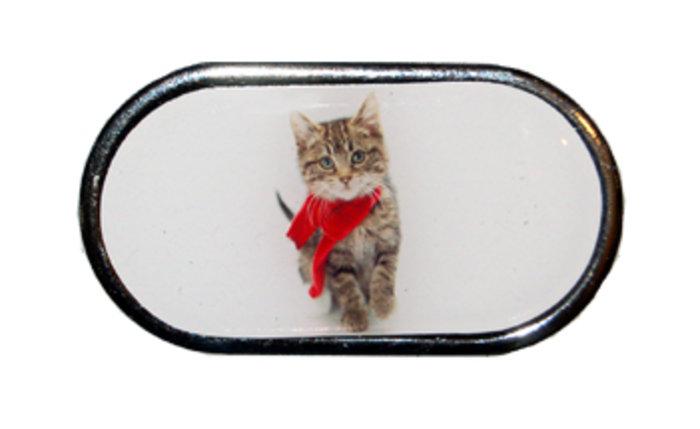 OPTIPAK LIMITED Pouzdro se zrcátkem Vánoční motiv - Kotě v šále