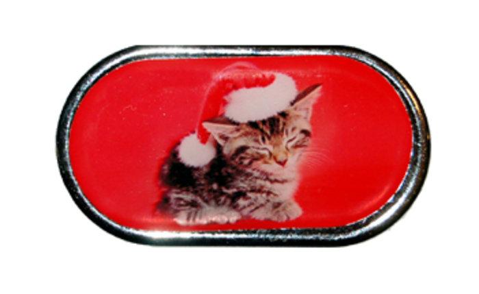 OPTIPAK LIMITED Pouzdro se zrcátkem Vánoční motiv - Kotě v čepici